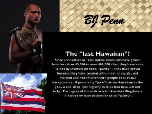 "Recently retired UFC fighter BJ Penn, the ""Last Hawaiian"""