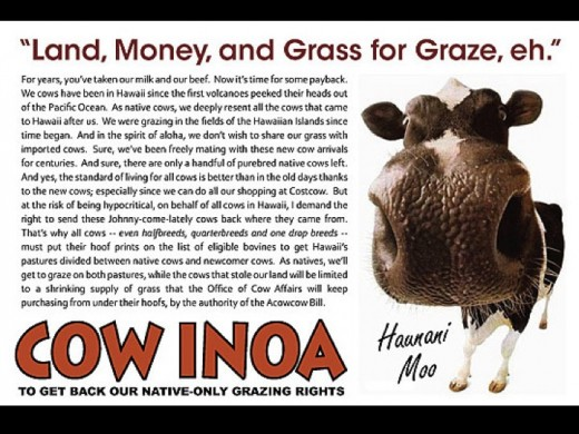 """Cow"" Inoa joke made by people opposed to the movement"