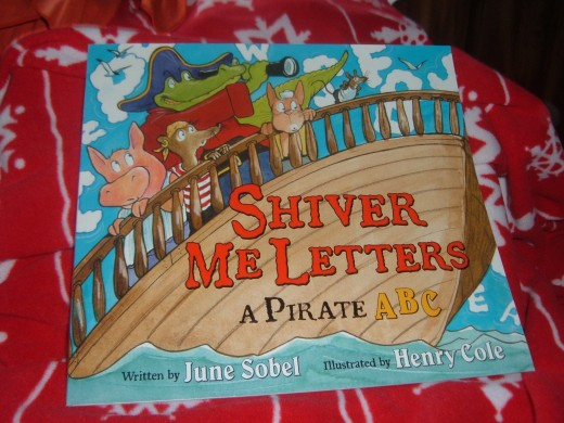 Discovering the alphabet with a pirate-y theme..