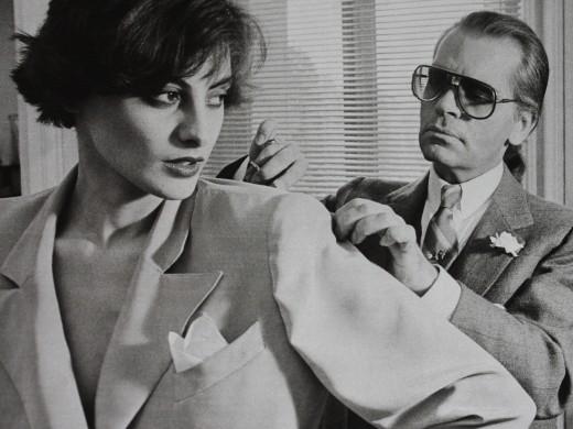 Ines de la Fressange and Karl Lagerfeld