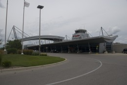 Outside view of London International Airport, Ontario, Canada