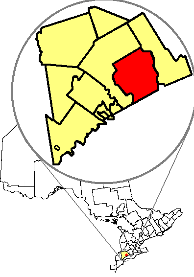 Map location of London, Ontario