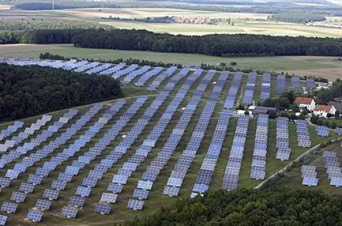Solar Farm in Amstein, Germany