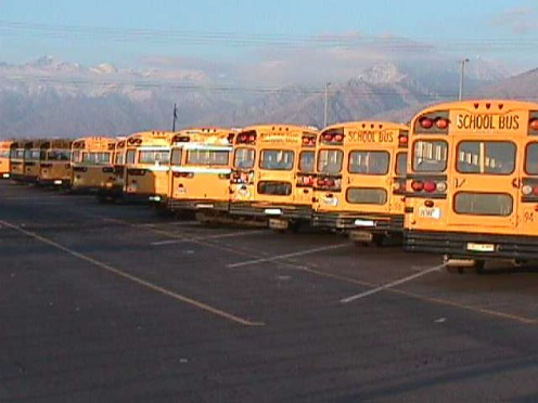 "These buses will carry 67,000 school students to and from schools each day with no safety seat belts....except one for each driver, though parents driving their children to school must buckle them in ""for safety."""