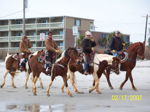 RIDING HORSES ON MYRTLE BEACH THAT IS  ALLOWED IN THE WINTER OFF SEASON MONTHS