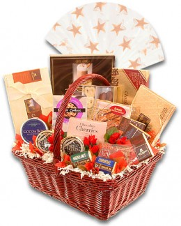 It's easy to personalize a gift basket