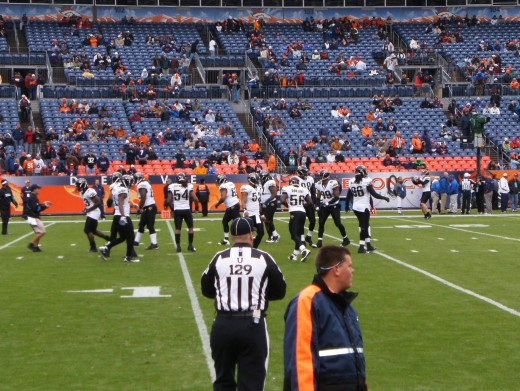 The Jacksonville Jaguars vs the Denver Broncos