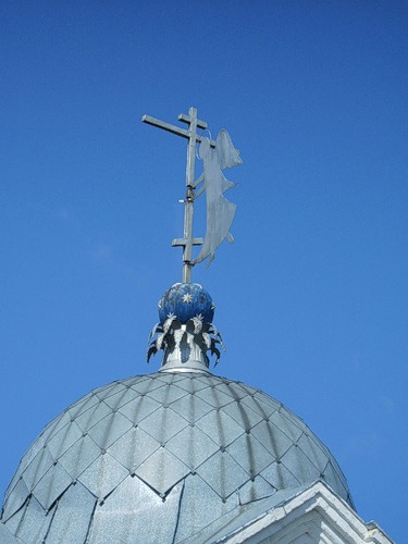 The dome of Pakhomiev monastery in Nerekhta