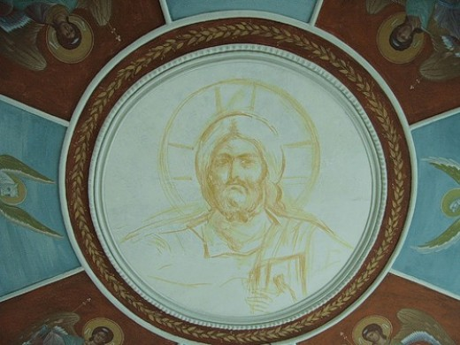 Fresco in Pakhomiev Monastery