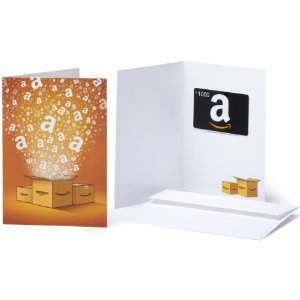 The Amazon Gift Card is a great choice with values from $10 and upwards.