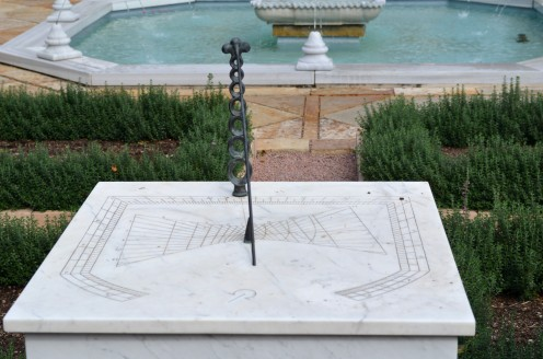 Photo 2 - Unique Sundial that shows a couple different times around the world.