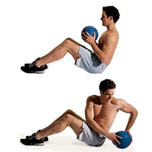 medicine ball exercise movement body position example