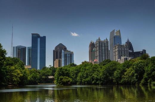 Atlanta cityscape.