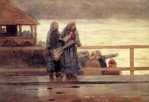 Perils of the sea 1881. watercolor