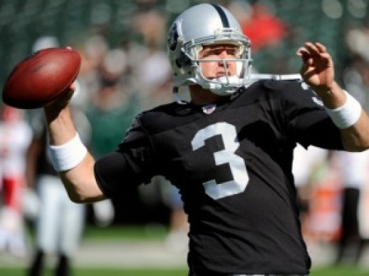 Carson Palmer has 6 INT's in his first two games with the Raiders