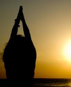 Performing a Yoga Sun Salutation