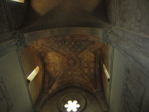 The ceiling in the church of St. Mary of the Assumption, Amaseno, Italy