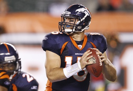 Tebow is gradually improving every game but still has a long way to go to become a legitimate NFL QB