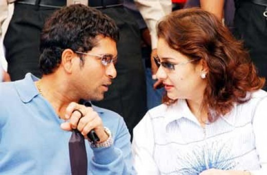 Sachin with wife Dr.Anjali