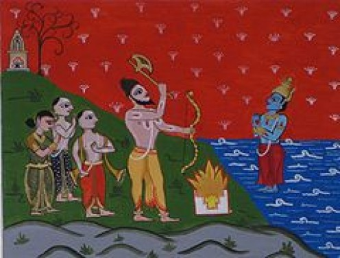 "The Kollam Era of the Malayalam calendar is also known as ""Parasurama-Sacam"". The Travancore Rajas  claim descent from Chera King Bhanu Bikram, who was raised to the throne, by Parasurama.In the  Keralolpatti, Parasurama chose the goddess Durga (Kali"