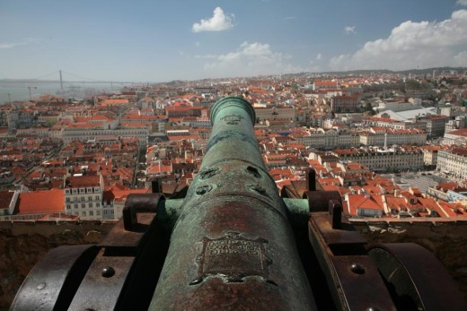 View out over Lisbon from S. Jorge Castle
