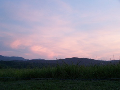 Sunset in Cades Cove in the Great Smoky Mountains National Park