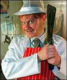'Hilary Briss - Master Butcher' at your service.
