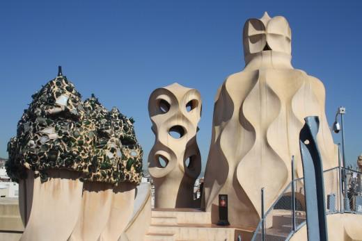 La Pedrera, Casa Milà, Gaudi, Barcelona, Spain