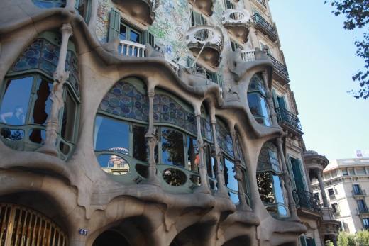 "The ""Casa Batlló"", Gaudi, Barcelona, Spain"