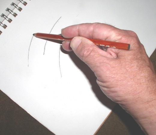 Drawing lines on a pad for practice
