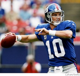 "Eli has proved to be an ""Elite"" quarterback in the NFL this season"