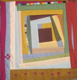 A liberated quilt does not follow the rules of traditional quilting.