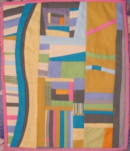 A liberated quilt is fun and playful.