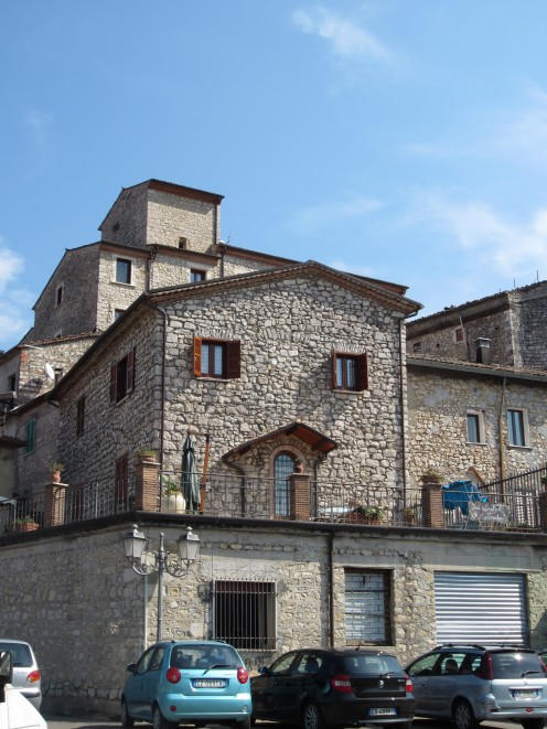 Houses and buildings in the center of Amaseno, Italy.