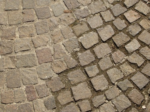 "The pavement in the ""Old Town"" - the center of Amaseno, Italy."