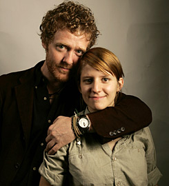 "Glen Hansard and partner Marketa Irglova. Also known as ""Swell Season"""
