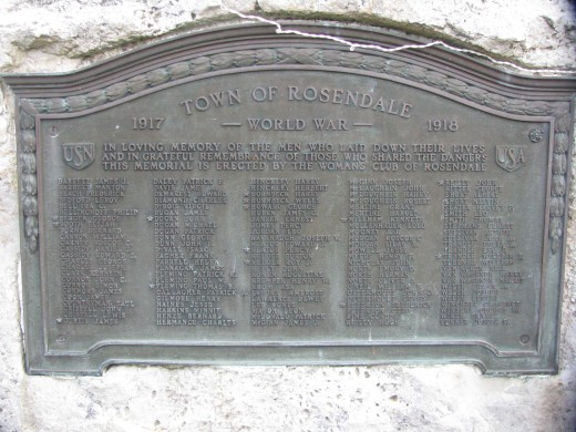 World War I Memorial, Rosendale, New York