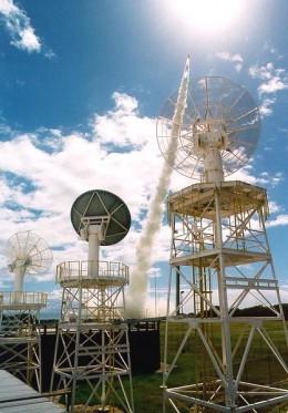 Tracking antennas of the Kauai Test Facility (KTF)
