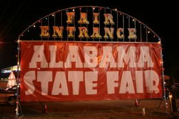 The Alabama State Fair where the Lane Cake was first served and won the blue ribbon. It was a very popular cake at the fair.