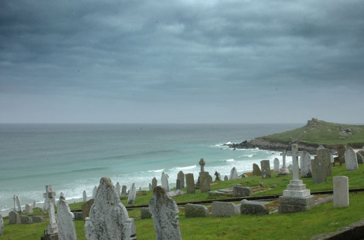 Barnoon cemetery St Ives. A tomb with a view!