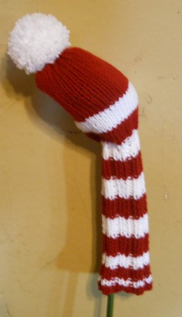 Knitted Golf Club Covers Pattern Free : Easy Golf Club Cover Pattern