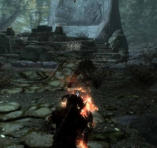 Skyrim Defeating the Draugr Overlord Using Flames and Getting the Dragonstone
