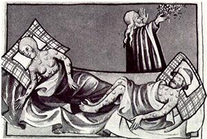 Plague epidemic in Medieval Europe.