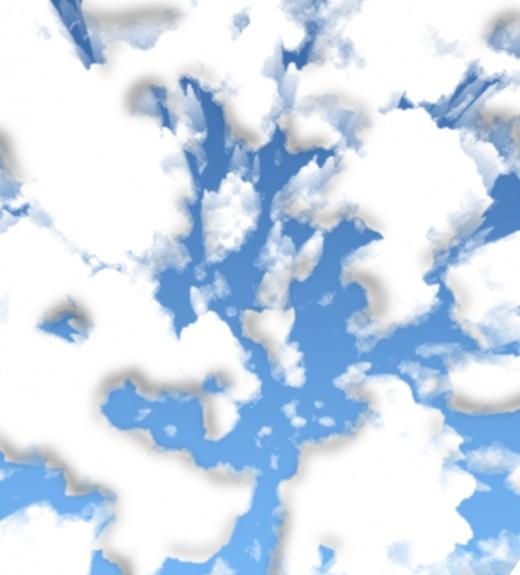 Detail of sky randomly generated.