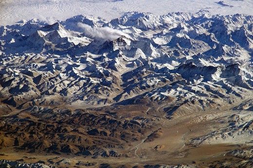 Mount Everest as seen from the International Space Station