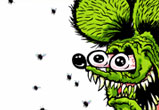 Rat Fink eats Flies