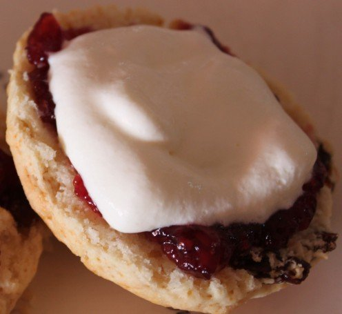 Scones with Cream and Jam