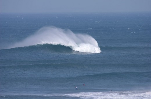 Newquay's big wave spot - the Cribbar