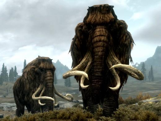 Mammoths in Skyrim