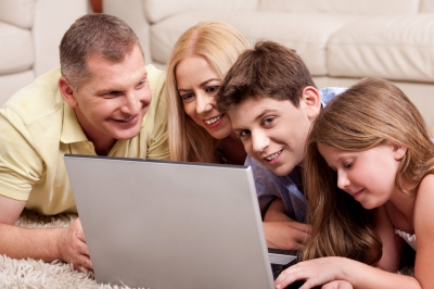 Help curb cyberbullying by placing the family computer in a central location.